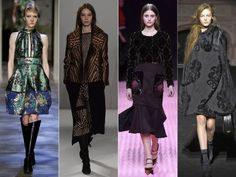 Brocade Trends London Fashion Week 2015