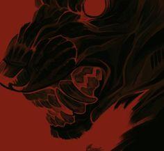 artwork (c) rema-rin Art Et Illustration, Red Aesthetic, Dark Art, Art Inspo, Art Reference, Creepy, Cool Art, Beast, Horror