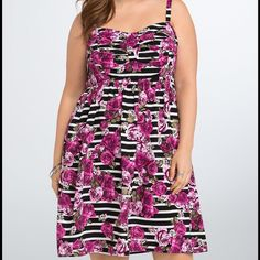 NWT torrid size 1 floral challis tank sundress NWT torrid size 1 floral challis tank sundress. Lightweight fabric with back smocked elastic panel for stretch. Straps are adjustable and it also has pockets ! torrid Dresses