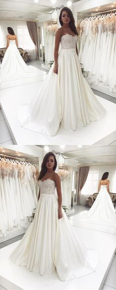 White wedding dress. All brides think of finding the most suitable wedding, but for this they need the ideal bridal dress, with the bridesmaid's dresses actually complimenting the brides-to-be dress. These are a number of tips on wedding dresses.