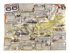 Route 66 Color Poster (1st Edition)