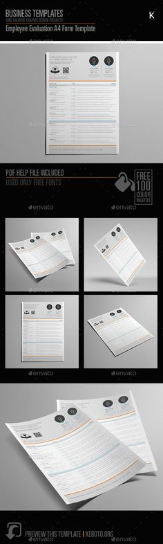 7 best employee evaluation form images