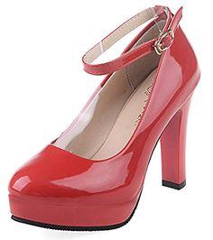 6fb142f19abab Bevalsa Femme Sexy Suédé Escarpins Bride Cheville Talon Aiguille Haut  Plateforme Epais Chaussures Lacets Chaussures Club