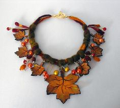 How to make Leather Leaf Jewelry and Mask Leather Leaf, Leather Fabric, Wicca, Pagan, How To Make Leather, Crochet Necklace, Beaded Necklace, Leaf Jewelry, Leather Flowers