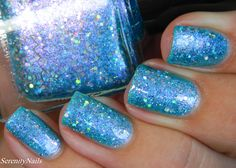 Femme Fatale - Glass Carnival | Beauty so Fly Exclusive | Sky blue jelly loaded with lots of pink shimmers inside. It also has a variety of silver holo in different sizes, it's blingy, bright, girly and fun. Good coverage as well, it should be no more than three thin coats for a breathtakingly gorgeous mani. Glass Carnival is exclusive to Beauty So Fly and comes to you in our new rectangular bottle shape packaged in a sleek white box.