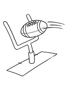 Ball of American football coloring page Football Party