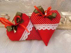 Karácsonyi szív pár, Dekoráció, Karácsonyi, adventi apróságok, Mindenmás, Otthon, lakberendezés, Meska