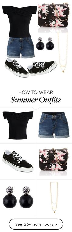 """""""Summer outfits #1"""" by thediamondkitty on Polyvore featuring LE3NO, Vans and Chicwish #polyvoreoutfits"""