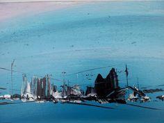 """""""Tramonto sul mare"""", acrilico su pannello 21x40 (available for sale)"""