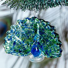 Peacock Ornament by Lenox
