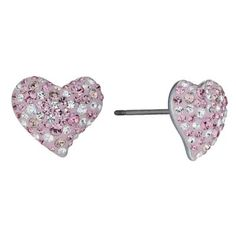 Swarovski Alana pink heart earrings- Ernest Jones #ernestjones #swarovski