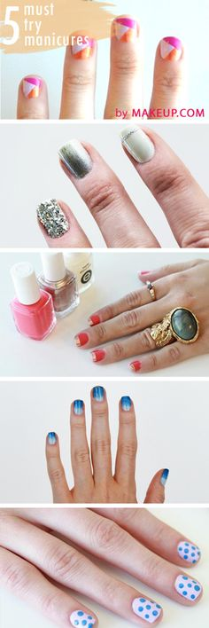 makeup.com's 5 must-try manicures & step-by-step tutorials #manicuremonday