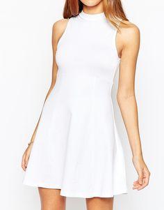 Image 3 ofASOS High Neck Empire Dress