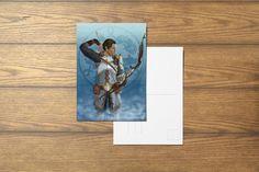 Sebastian Vael A6 Dragon Age Inspired Postcard by SefieRosenlund by Sefie Rosenlund @ Etsy. Drawing Tablet, Wacom Intuos, Dragon Age, Etsy Seller, Digital Art, Handmade Items, My Arts, Colours, Inspired