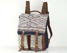 Ethnic Traditional Outdoor Backpack Rucksack Daypack by TaTonYon, $50.00