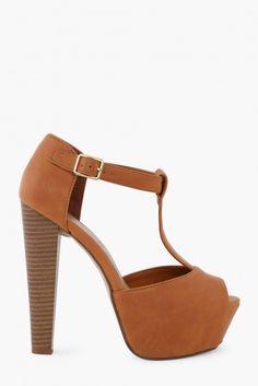 Brina Heels in Tan | Necessary Clothing