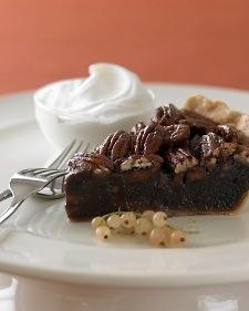 Martha Stewart's chocolate pecan pie