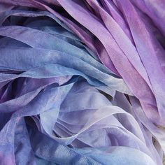 Hand Dyed Ribbon  ORCHID  Half Inch 5 yards by JodyPoesy on Etsy, $5.00