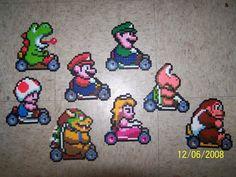 Mario Kart in perler beads by ~Cristiaso on deviantART