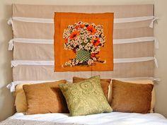 DIY Fabric Slipcover Headboard DIY home furniture