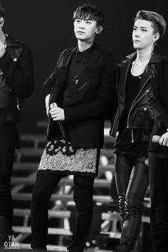 140511 EXO Comeback Showcase in Shanghai - Chanyeol Sehun #SeChan #Chanhun