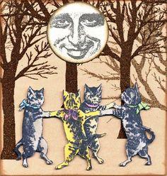 ... Vamos dar a meia volta, volta e meia vamos dar! ... ♡ #GatíssimosHor #Gatos #Ciranda #Arte #DançadosGatos #CirandadosGatos #Lua #Floresta #Cats #Art #Forest #CatLovers #Moon #CatsDance #Chat #CatsintheForest #Katze #InstaCat #CatsofInstagram