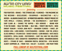 The time has finally come! ACL Music Festival has just announced their official lineup for 2015 and tickets are on sale now! The list features Foo Fighters, Drake, The Strokes, Florence + The Machine, The Weeknd, DISCLOSURE, deadmau5 and many more - you have two chances and weekends to catch them live in the beautiful Zilker Park. Don't wait to score your spot and we'll see you in October!