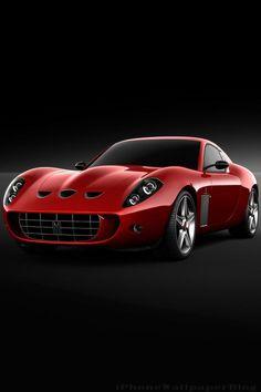 Ferrari 599 GTO Red iPhone 4 Wallpaper