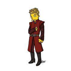 Joffrey Baratheon Simpsonized by ADN