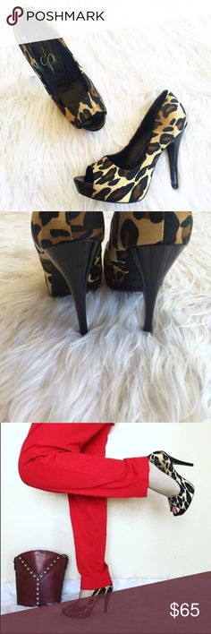 • Jessica Simpson • Leopard Pumps This heels are perfect to pair with your LBD Jessica Simpson Shoes Heels