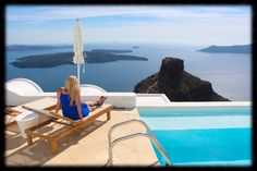 Astra Suites hotel - my view from the pool! Santorini, Greece