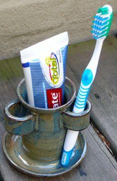 Handgemachte Keramik Badezimmer Zahnbürste/Zahnpasta-Halter