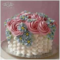 24 Ideas chocolate cake peanut butter icing desserts for 2019 Cake Decorating Designs, Cake Decorating Techniques, Cake Designs, Cookie Decorating, Cake Icing, Buttercream Cake, Eat Cake, Cupcake Cakes, Pretty Birthday Cakes