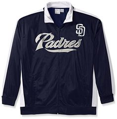 MLB San Diego Padres Men's Tricot Poly Track Jacket, 3X, Navy/White  https://allstarsportsfan.com/product/mlb-san-diego-padres-mens-tricot-poly-track-jacket-3x-navy-white/  Padres Tricot Poly Track Team logo screen Cold water wash low temp dry will help maintain shape of this garment