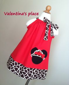 Adorable Minnie Mouse Safari Pillowcase dress by Valentinasplace, $28.00