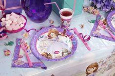 Festa di compleanno Principessa Sofia. La magia di una festa, inizia dalla tavola! http://www.palaparty.com/158-Sofia-buon-compleanno