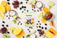 Our Sunkist chocolate Blends will take your tastebuds on a tropical getaway in one bite! First Bite, Summertime, Tropical, Treats, Cheese, Chocolate, Food, Sweet Like Candy, Goodies