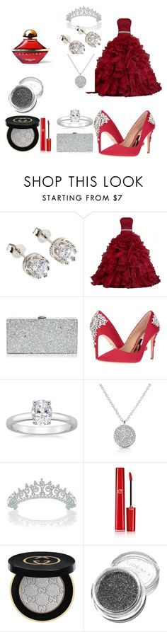 """""""dolled up for the ball"""" by ceniya7 on Polyvore featuring Milly, Badgley Mischka, Anne Sisteron, Bling Jewelry, Giorgio Armani, Gucci and Guerlain"""