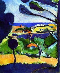 View of Collioure and the Sea Henri Matisse - 1911