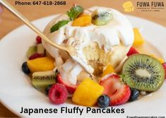 In the mood for some fluffy Japanese pancakes? Visit our Yonge and Eglinton location for souffle & Japanese pancakes handmade from delectable ingredients. Japanese Fluffy Pancakes, Japanese Pancake, Toronto Cafe, Fuwa Fuwa, Fruit Salad, Ontario, Acai Bowl, Restaurant, Search