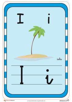 abecedario en color i Letters, Alba, Origami, Alphabet, Learning Letters, Lower Case Letters, Preschool Reading Activities, Letter, Paper Folding