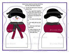 Sylvia Snow-Lady Cut and Sew Doll Ornament - Linda Walsh Originals Fabric Designs: New Snowman Custom Fabric Designs For The Winter Seasonal Custom Fabric Lines