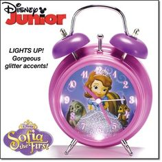 Sofia the First Clock Glitter accents and LED lights make this a pretty accent for any girl's bedroom. http://jgoertzen.avonrepresentative.com/