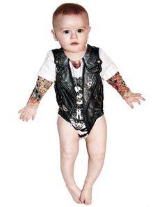 Biker Baby Romper