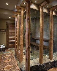 Awesome log shower