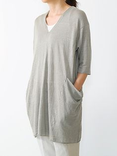 linen stretching yarn tunic
