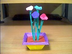 ▶ 折紙で折った植木鉢 Flowerpot - YouTube