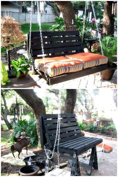 How To Build Your Own Pallet Swing - Pallet Projects - 150 Easy Ways to Build Pallet Projects - DIY & Crafts