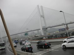 That's the Nanpu Bridge. It is ALMOST similar to the Alex Fraser Bridge in Vancouver.