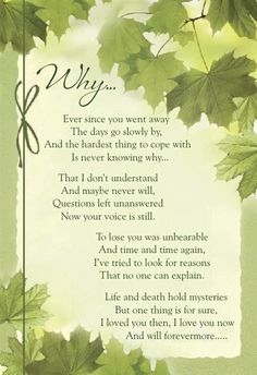 For my Husband and my Dad in Heaven...